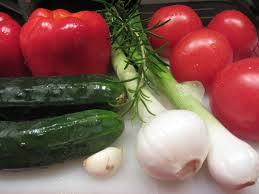 verdure per gazpacho