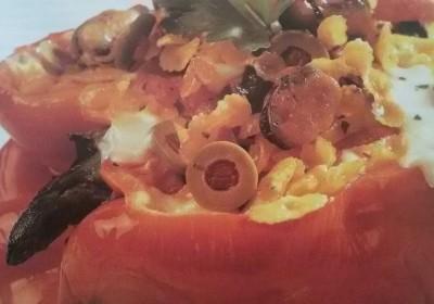 peperoni ripieni di pasta e cozze